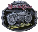 Express Velocette Motorcycle Belt Buckle with display stand. Code FK3